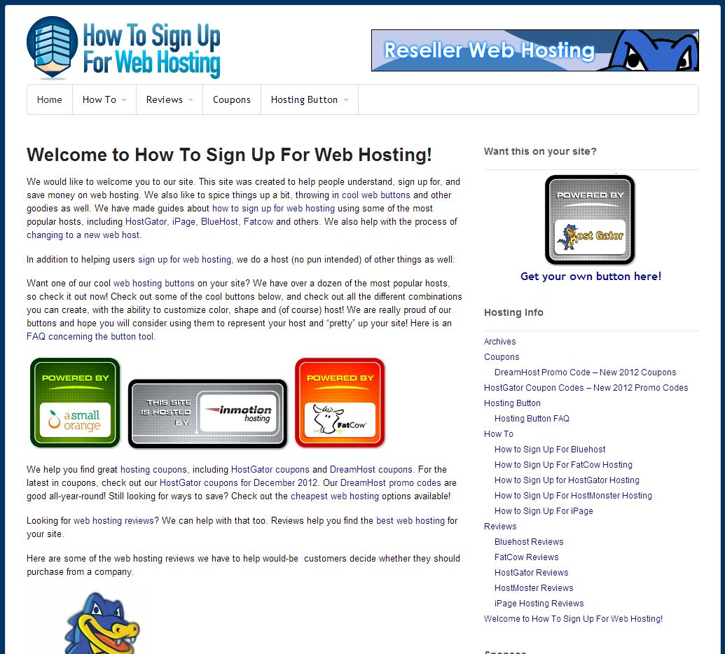 Site highlight:  HowToSignUpForWebHosting.com