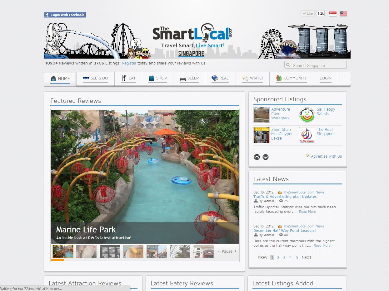 Site Highlight:   TheSmartLocal.com