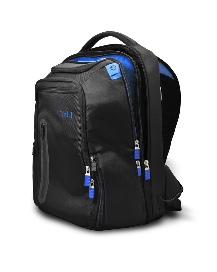 The backpack will stand when set on a flat surface